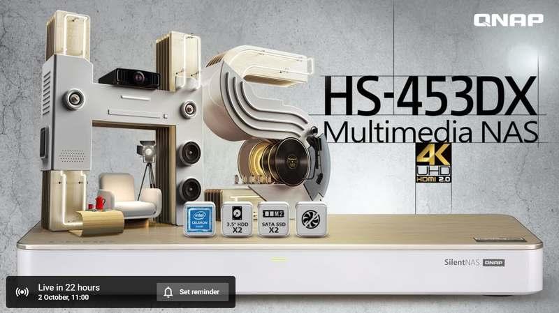 QNAP HS-453DX header