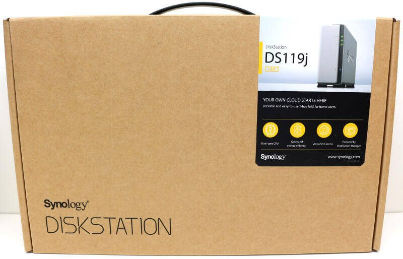 Synology DS119j Photo box front