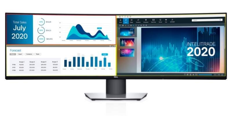 Dell Unveils the World's 1st Dual-QHD 49-inch Curved Monitor