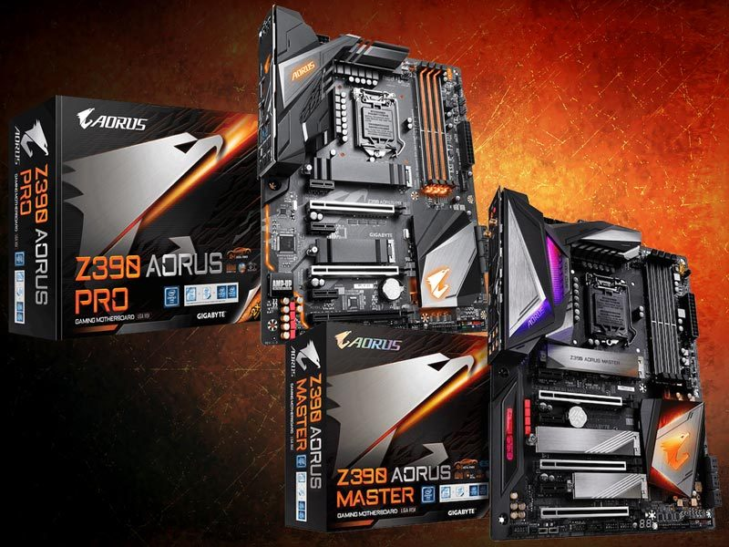 AORUS Z390 Pro and Master Motherboards Preview