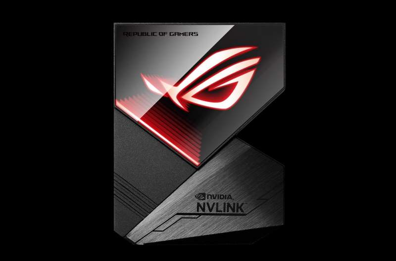 ASUS Releases ROG-Themed NVLink with RGB LED