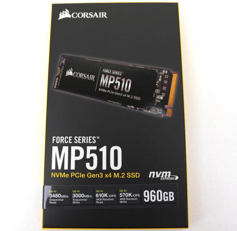 Corsair Force MP510 960GB Photo box front