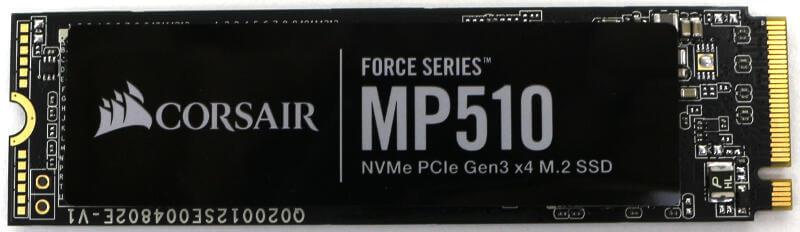 Corsair Force MP510 960GB Photo view top