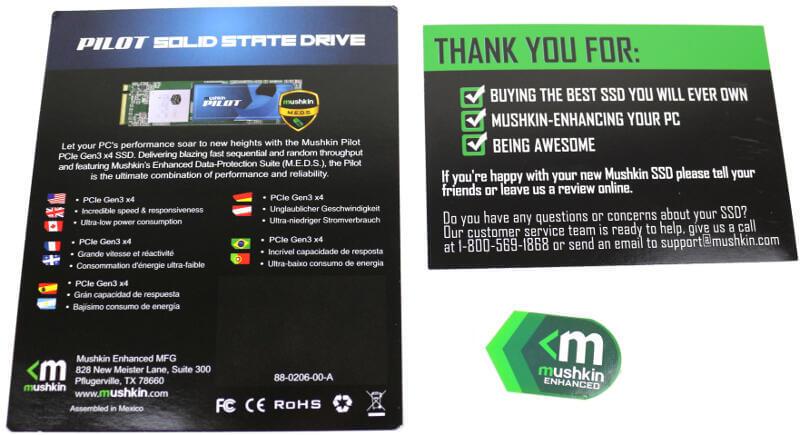 Mushkin Pilot 500GB Photo box 3 accessories