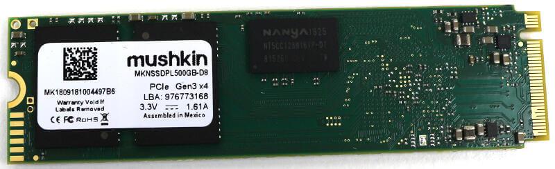 Mushkin Pilot 500GB Photo view bottom