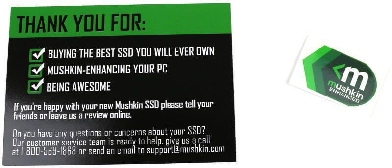 Mushkin Source 250GB Photo box extras