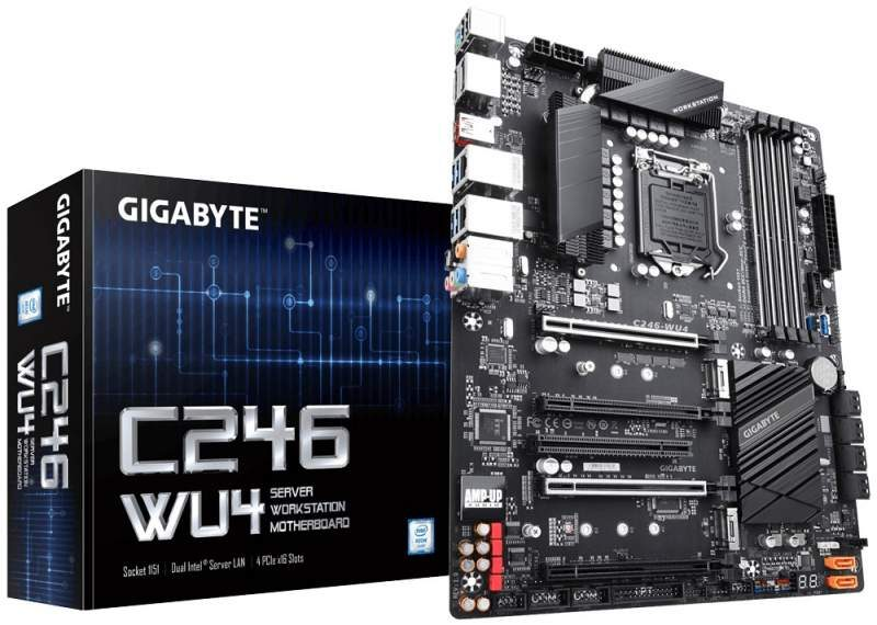 Gigabyte Launches the C246-WU4 Server Motherboard