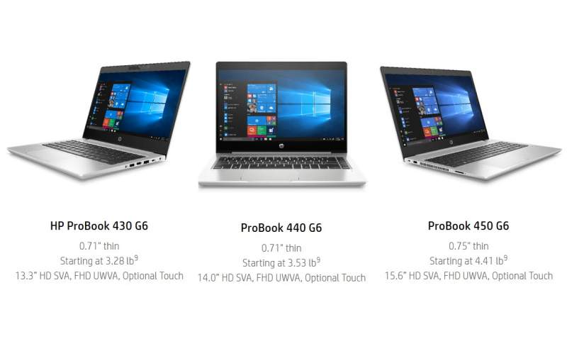 HP Launches ProBook 400 G6 Series Business Laptops