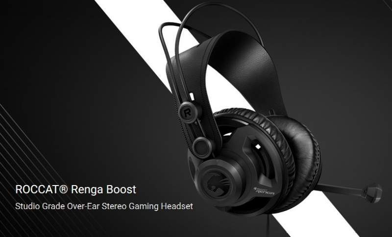 Roccat Announces the Renga Boost Gaming Headset