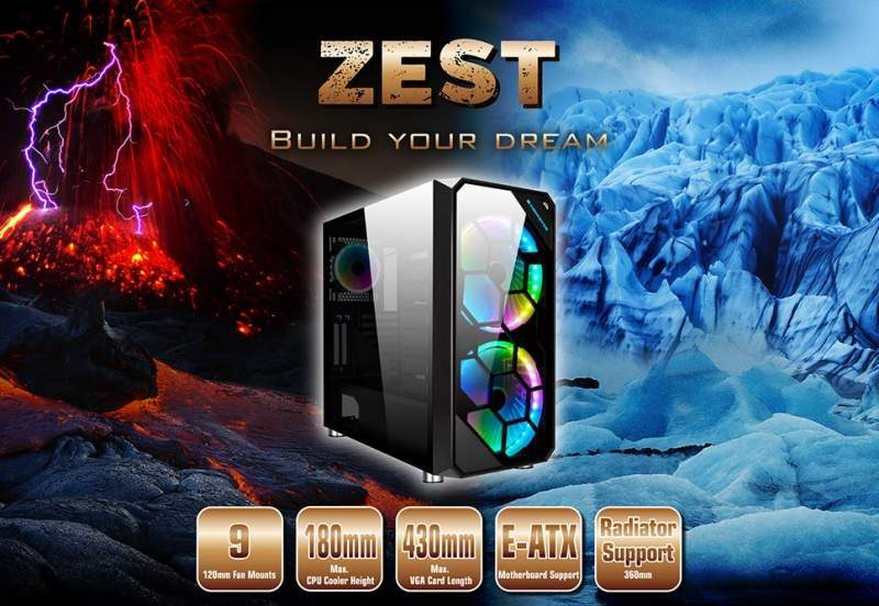 Xigmatek Launches the Zest E-ATX Chassis