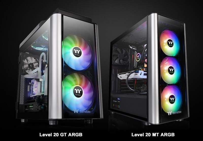 Thermaltake Debuts Level 20 MT and Level 20 GT ARGB Cases