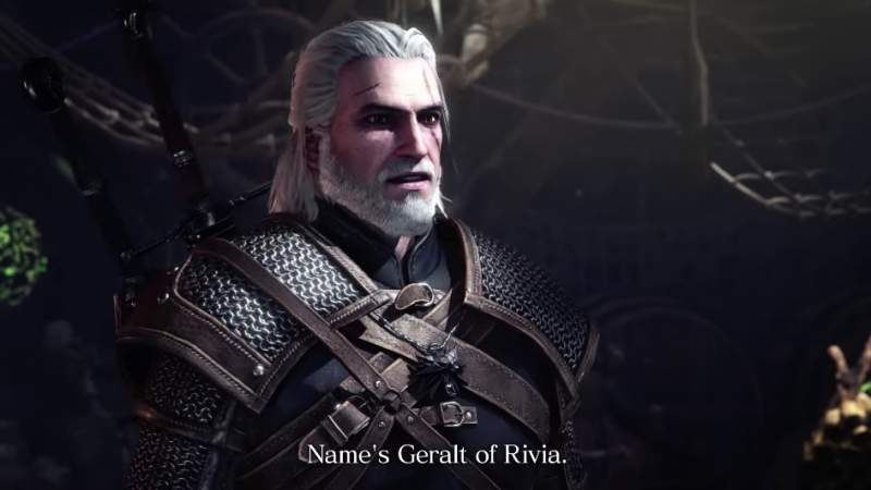 Geralt from The Witcher Series Heads to Monster Hunter World