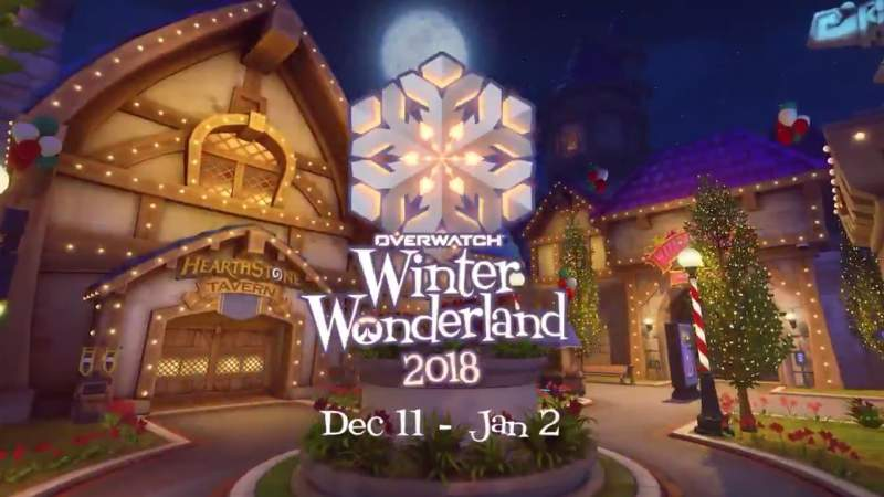 overwatch winter wonderland 2018 start time