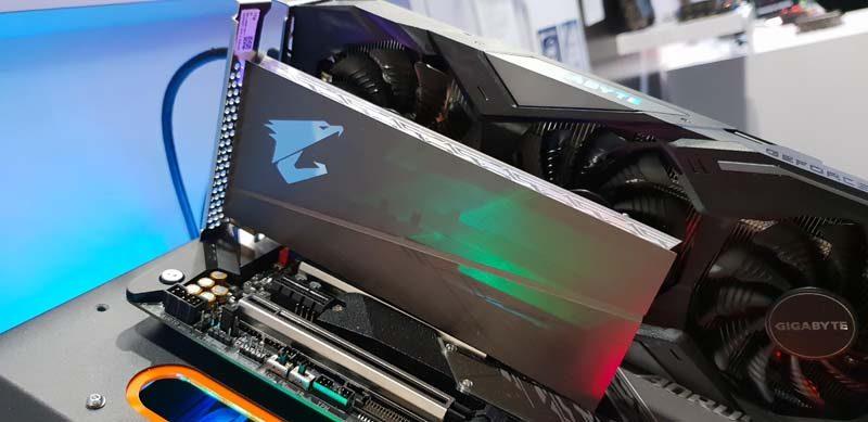 AORUS RGB AIC NVMe SSD Showcased at CES 2019
