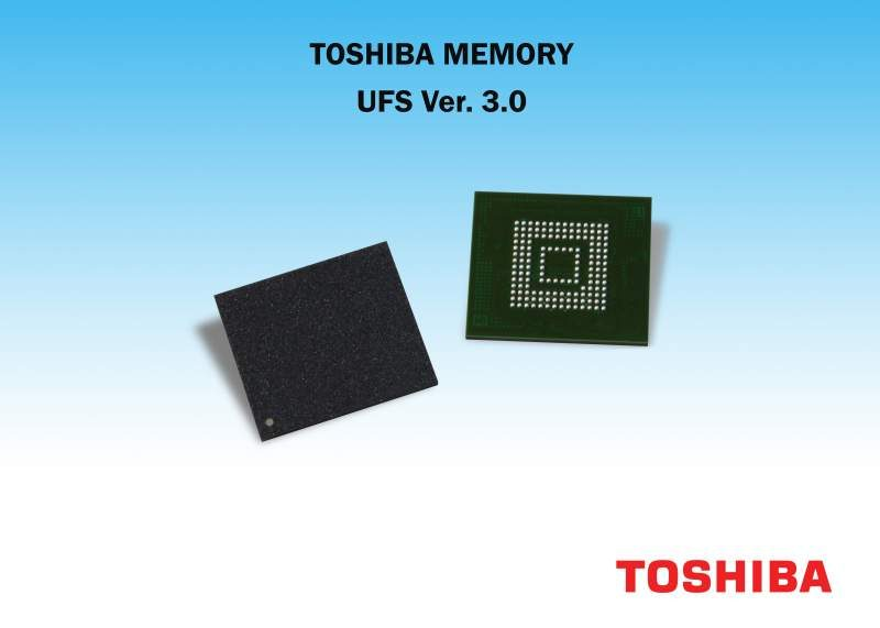 Toshiba First to Sample UFS 3.0 Embedded Memory Devices