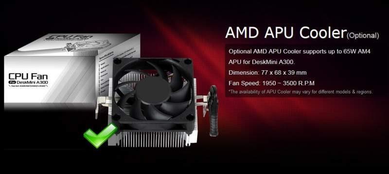 ASRock DeskMini A300 Mini-STX AMD PC Released
