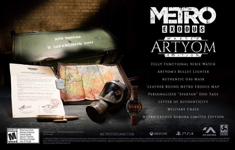 Ultra-Rare Metro Exodus Artyom Custom Edition Announced