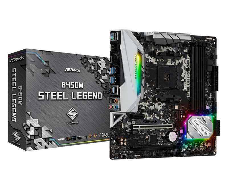 ASRock Unveils B450 and B450M Steel Legend Motherboards