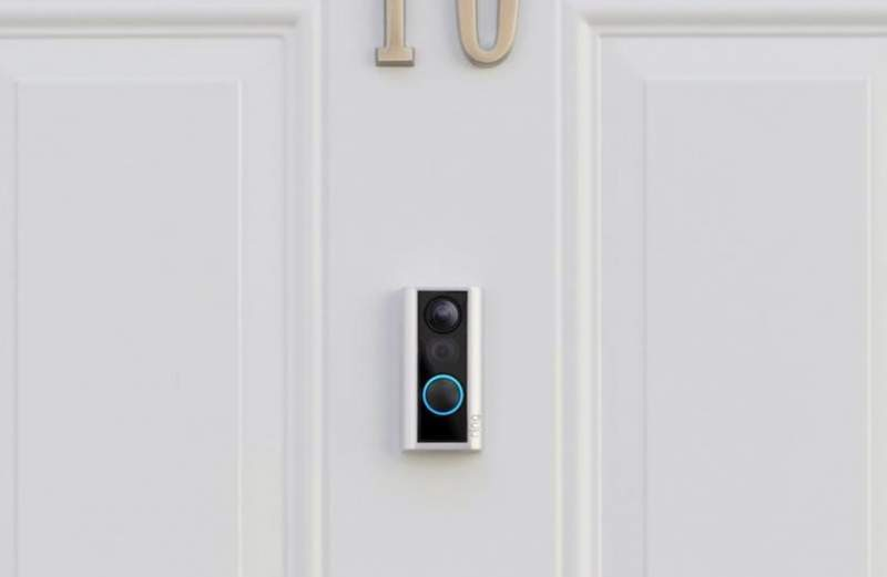 New Ring Door View Smart Cam Sits Over Existing Peephole