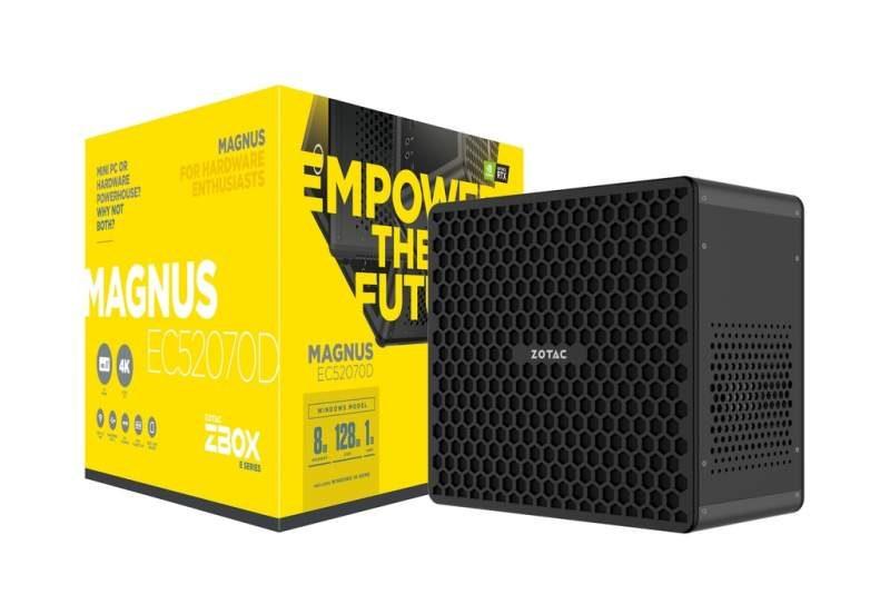 ZOTAC Magnus E-Series Mini-PC with RTX GPU Launched