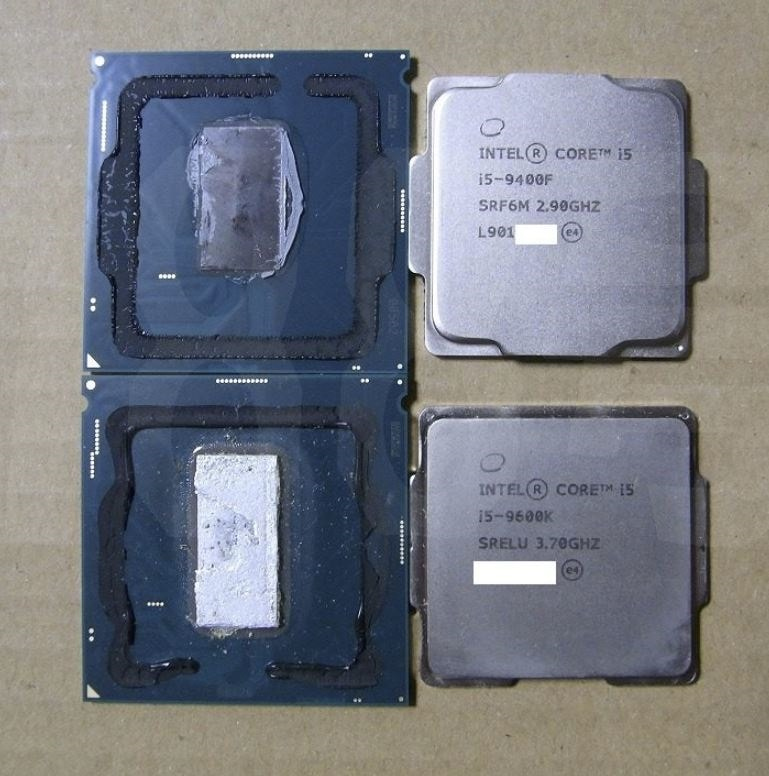 Intel Core i5 9400F Delid Thermal Paste