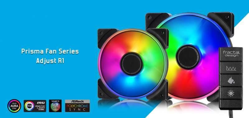 Fractal Design Launches the Prisma RGB Fan Series