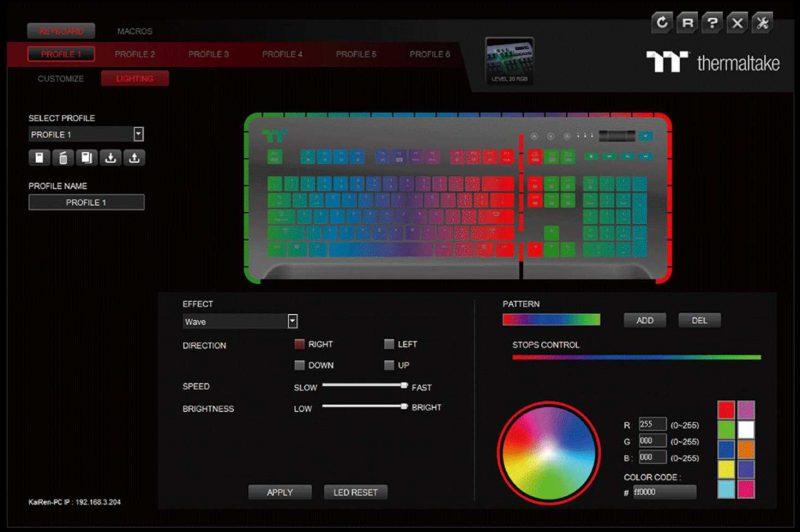 Thermaltake Level 20 RGB Mechanical Gaming Keyboard Review software