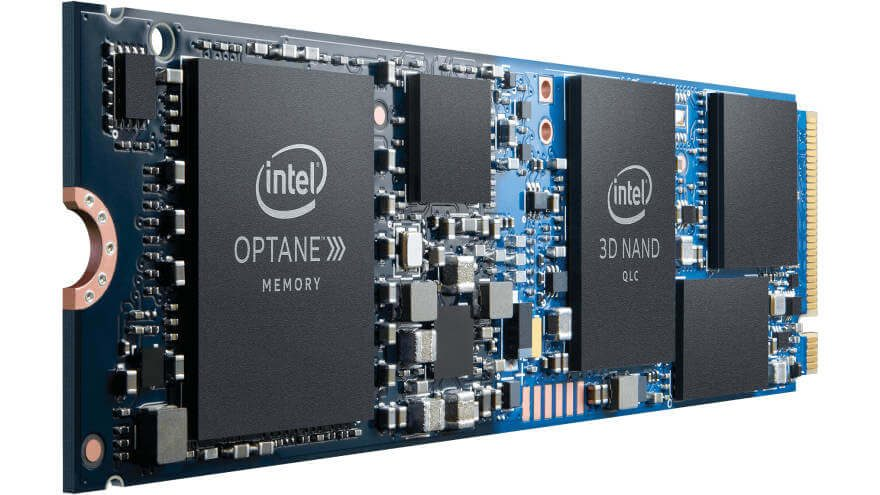 Intel Optane Memory H10 Photo front angle2