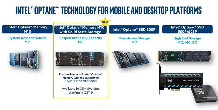 Intel Optane Memory H10 briefing 2