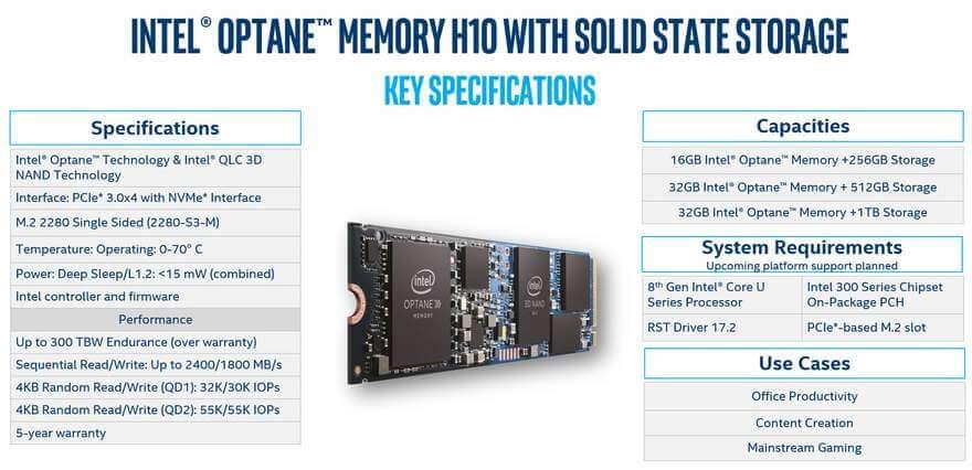 Intel Optane Memory H10 briefing 5