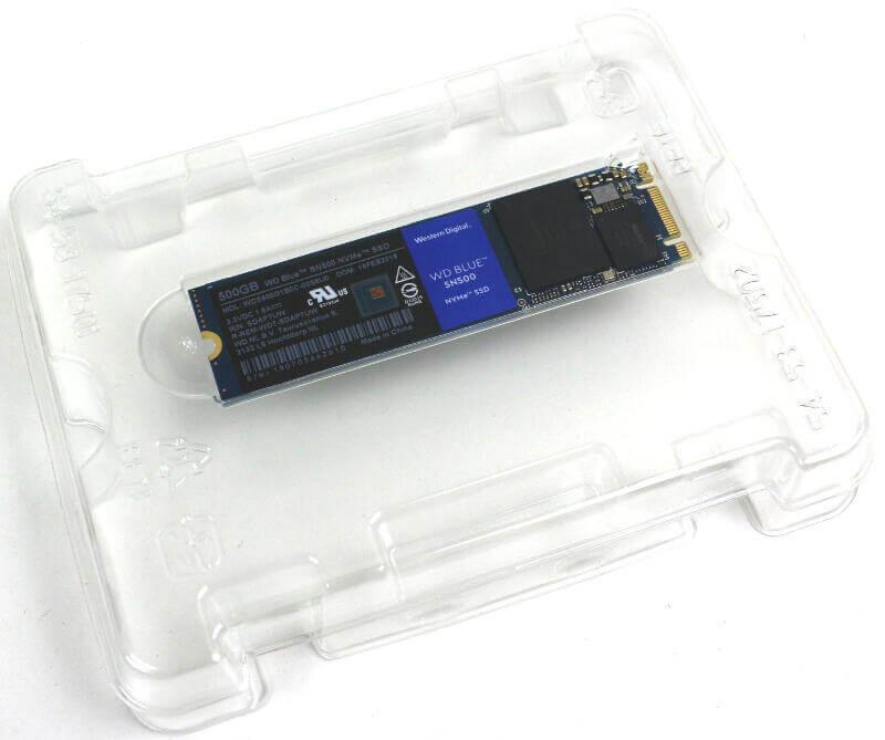 WD Blue SN500 500GB Photo box inside