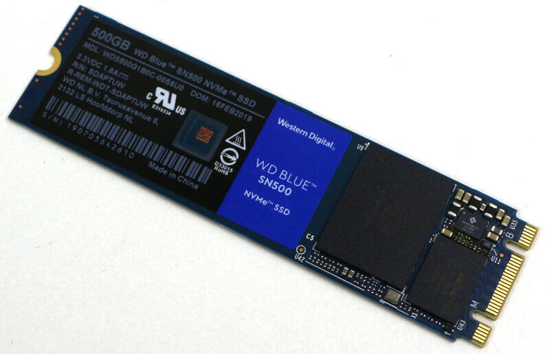 WD Blue SN500 500GB Photo view top angle