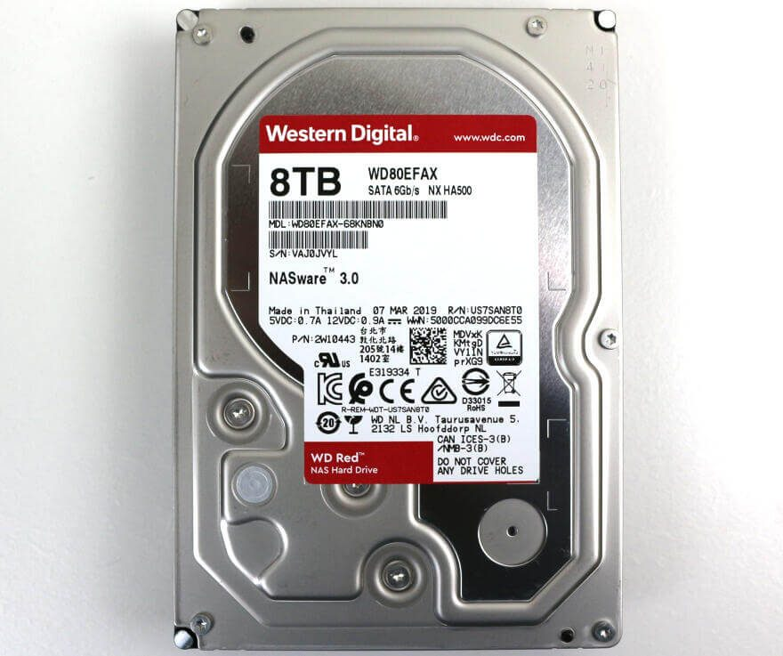 Western Digital WD RED 8TB Photo view top