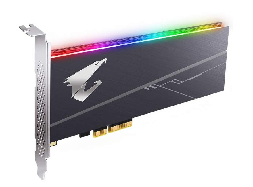 Gigabyte Launches AORUS PCIe NVMe SSD with RGB LED