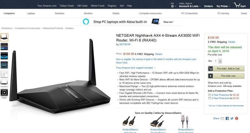 Netgear Nighthawk AX4 Wi-Fi 6 Router Arrives on April 9th