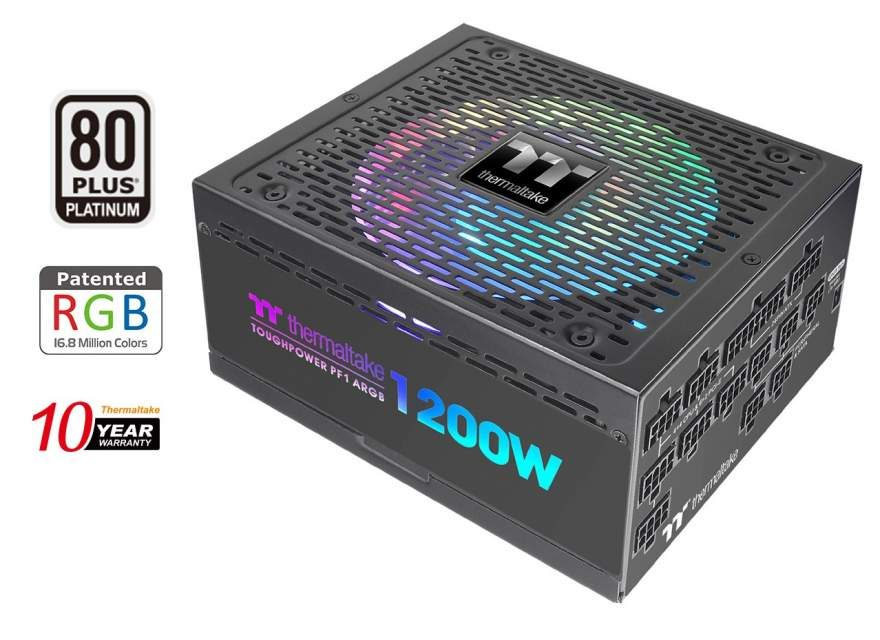 Thermaltake's New 80 Plus Platinum PSUs Have Digital RGB LED