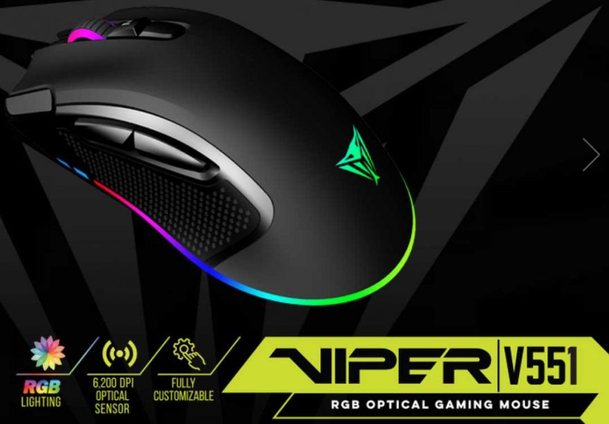 Viper V551 Optical RGB Gaming Mouse Review