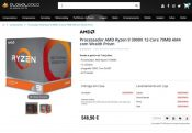 AMD Ryzen 3000 CPU Euro Prices Now Listed on Retail Site