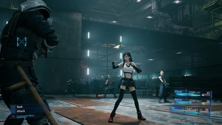 Tifa Lockhart in the upcoming Final Fantasy VII Remake (Unreal Engine)