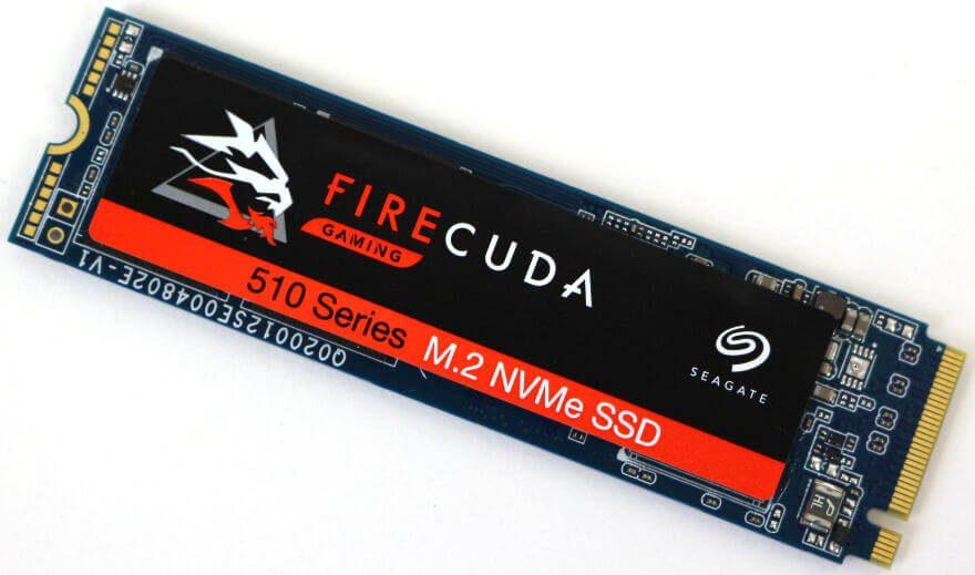Seagate FireCuda 510 SSD 1TB Photo view top angle 2