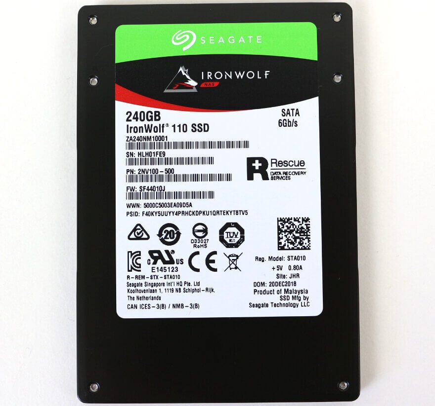 Seagate IronWolf 110 240GB Photo view top
