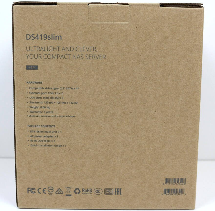 Synology DS419slim Photo box side 1