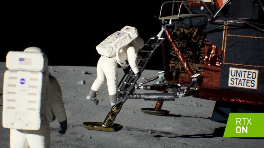 NVIDIA Recreates Apollo 11 Moon Landing with RTX Tech