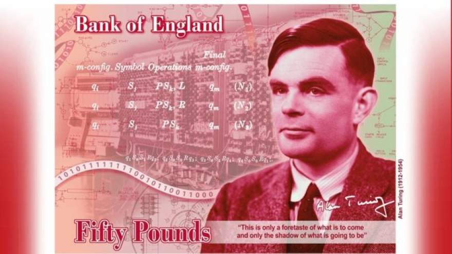 Alan Turing Will Be on the Bank of England's Next £50 Note
