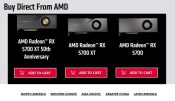 Radeon RX 5700 GPUs Available Directly from AMD's Website