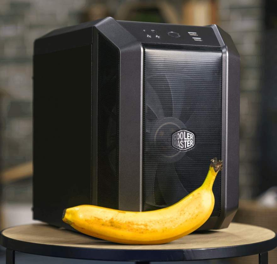 Cooler Master MasterCase H100 with Banana for Scale