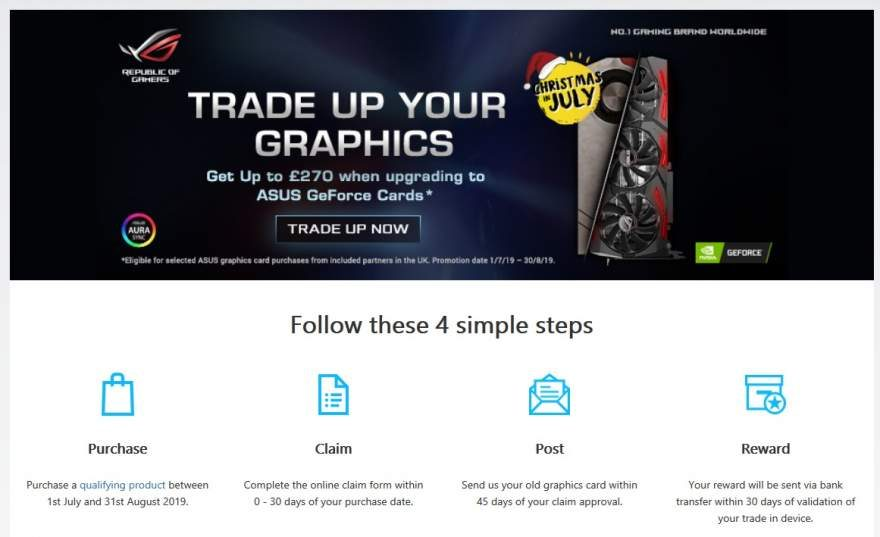 """ASUS and NVIDIA UK Presents the """"Trade Up Your Graphics"""" Promo"""