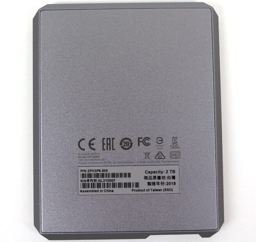 LaCie Mobile SSD 2TB Photo view bottom