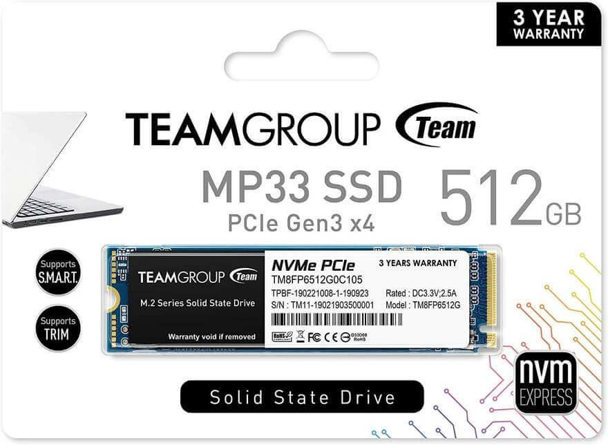 TEAMGROUP MP33 package
