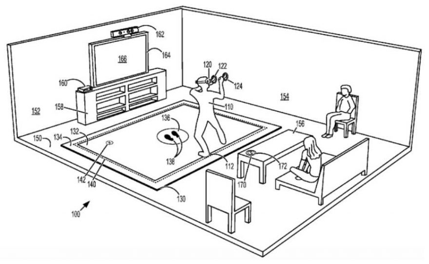 Microsoft Patent a Vibrating Floor Mat for VR